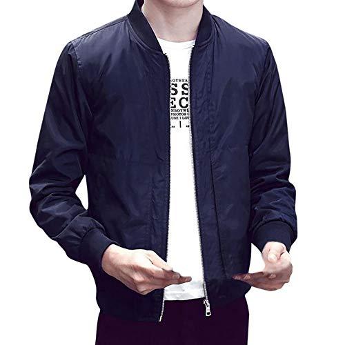 iCODOD Men's Casual Jacket Winter Warm Overcoat Fashion Outerwear Slim Long Sleeve Long Trench Zipper Coat