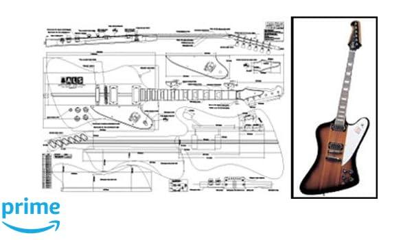 Plan de Gibson Firebird guitarra eléctrica - escala completa impresión: Amazon.es: Instrumentos musicales