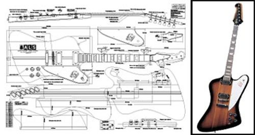 Plan of Gibson Firebird Electric Guitar - Full Scale Print