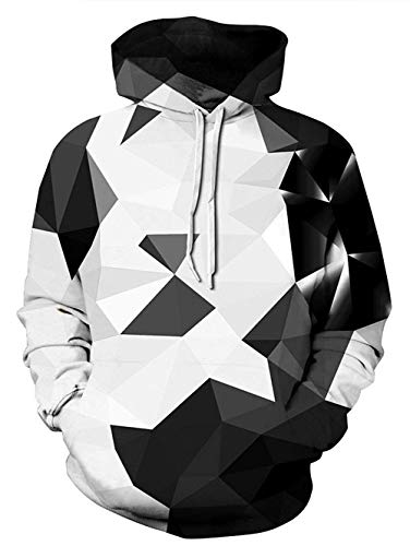 PIZOFF Unisex Diamond Hoodie Pockets 3D Pullover Hoodie Drawstring Hooded Sweatshirts Hoodies AM008-16-M