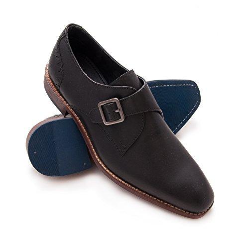 Zerimar Zapato de Piel Para Hombre Zapato Elegante Para Hombre Negro