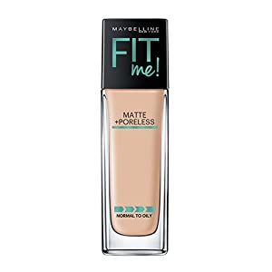 Maybelline Makeup Fit Me Matte + Poreless Liquid Foundation Makeup, Classic Ivory Shade, 1 fl oz