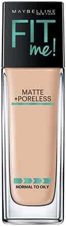 Maybelline Makeup Fit Me Matte + Poreless Liquid Foundation Makeup, Classic Ivory Shade, 1 fl oz