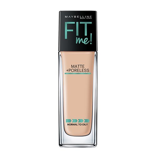 Maybelline Makeup Fit Me Matte   Poreless Liquid Foundation Makeup  Classic Ivory Shade  1 Fl Oz
