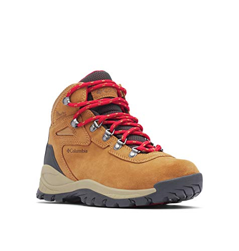 Columbia Women's Newton Ridge Plus, Elk/Mountain Red, 7 Regular US (Best Shoes For Mountain Hiking)