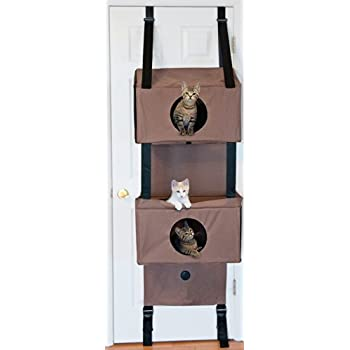"K&H Pet Products Hangin' Feline Funhouse Small Tan 22"" x 12"" x 70""  Cat Furniture"