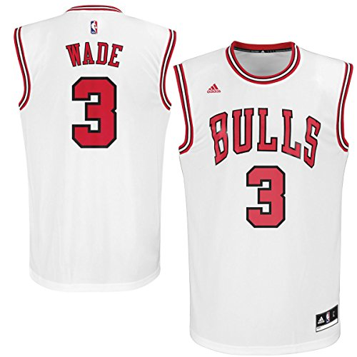 adidas Dwayne Wade Chicago Bulls #3 White Replica Home Youth Jersey (Large 14/16)
