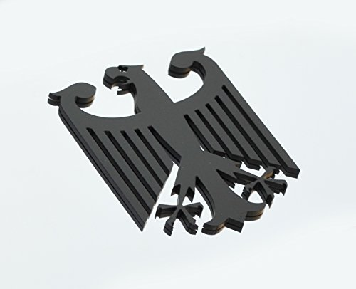 Mina Gallery Black German Germany Eagle Metal Decorative Emblem Decal Ornament Stainless Steel 3