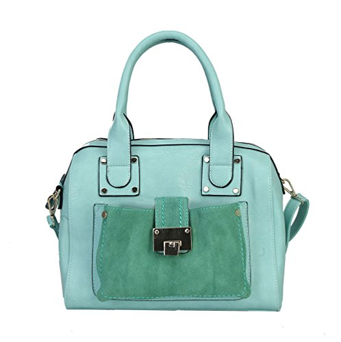 rimen-co-satin-pu-leather-fashion-front-toggle-pocket-zipper-womens-satchel-purse-handbag-rm-2092-gr