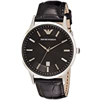 Emporio Armani Herren-Uhren Rund Analog Quarz Leder 32002657