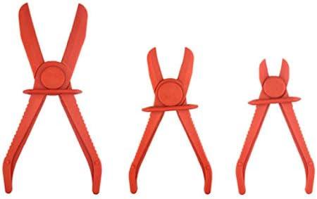 Slangklem tang knijp tang lijn klemmen set handsfree voor waterrem brandstof gaslijnen flexibele nylon slangen rood 3 STKS
