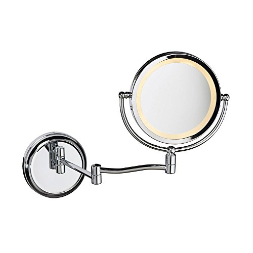 Dainolite Swing Arm Lighted Magnifier Mirror with Polished Chrome electronic consumers