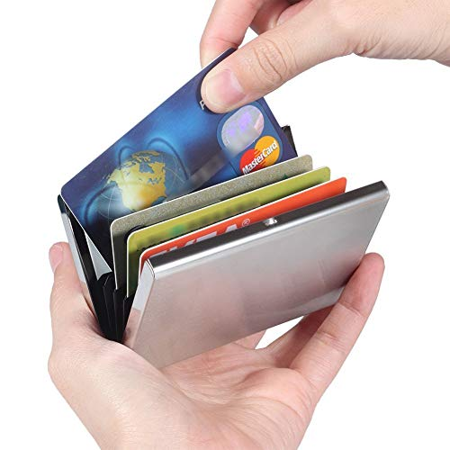 RFID Credit Card Holder Stainless Steel Credit Card Wallet for Holding Debit Card and ID Card