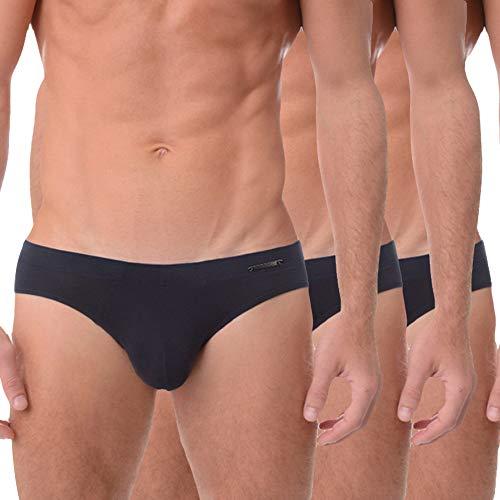 Vipex 3 Pack Men's Ultra Soft Comfy Rib Micro Modal Briefs