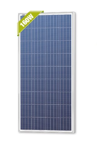 Newpowa 160 Watt 160W 12V Solar Panel High Efficiency Poly Module RV Marine Boat Off Grid