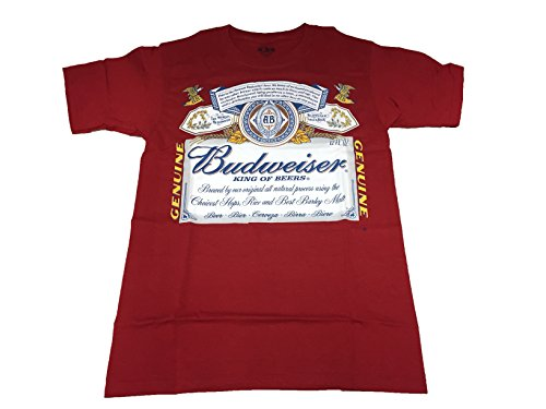 Budweiser King Of Beers Label T Shirt  Large  Clean Label
