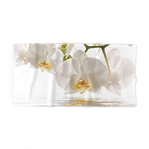 Mallory White Orchids 4 (2 Hand Towels, 2 Bath Towels)