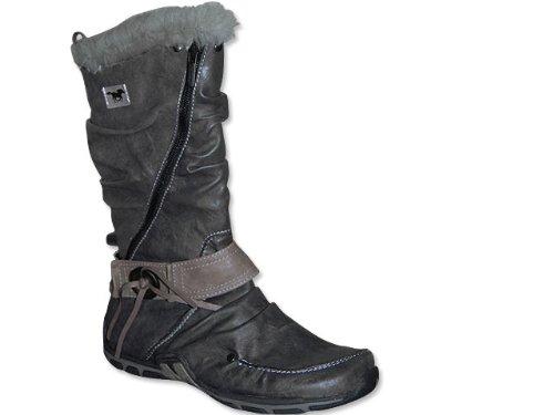 MUSTANG Damen Boots in Anthrazit Winterstiefel grau
