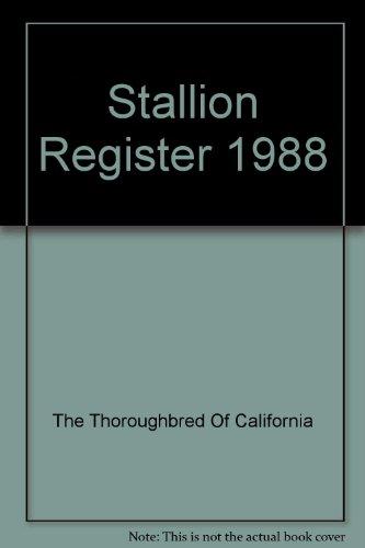 (Stallion Register 1988)