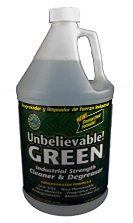 Unbelievable! UGCF-128 128 Oz. Green Concentrated Cleaner/Degreaser (Case of 4)