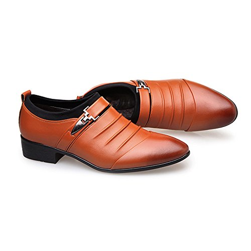 UE PU Smooth Scarpe Resistente uomo da Sunny Orange Dimensione 44 on lavoro Orange Slip da Color con amp;Baby fodera Leather all'abrasione traspirante Aw0qR