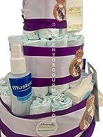 Tarta de pañales DODOT Real Madrid Mustela + peluche y chupete oficial (Talla 3 (4-9 kg)): Amazon.es: Bebé