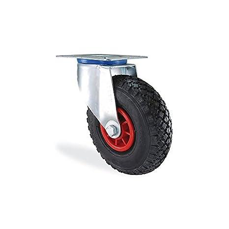 Roulette hinchable neumática diámetro 260 mm carga 150 kg: Amazon ...