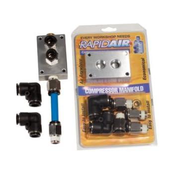 Rapidair 90200 Compressor Manifold Kit for 1/2-Inch Nylon Tubing