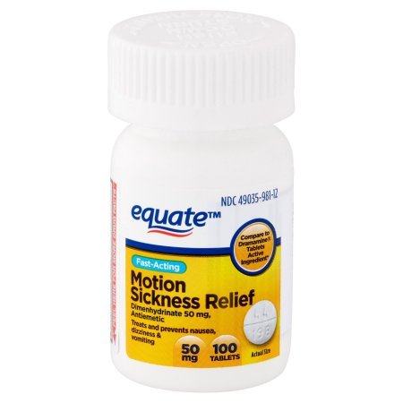 PACK OF 12 - Equate Motion Sickness Relief Tablets, 100 ct by Equate (Image #2)