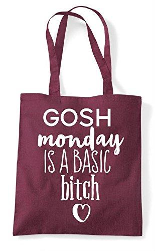 Bag Gosh Statement Is Tote Monday Basic Burgundy Bitch A Shopper wqpBWF0w
