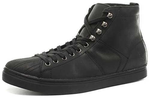 Lace Shoes Distress Oil Up Max Grinders Mens Black FwBIH