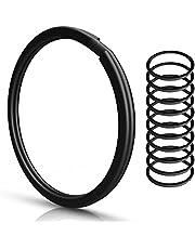Sleutelringen | 30 mm - 10 stuks | gehard staal | robuust | zwart | buitendiameter 25 mm | magnetisch | ring voor sleutels, sleutelhangers, auto, knutselen, sleutelring