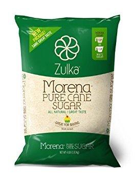 - Zulka Morena Pure Cane Sugar, Unfined & Non-gmo All Natural Sugar, 4 Lb (Pack of 2)