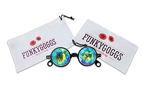 Kaleidoscope Glasses - Rainbow Prism Diffraction Glasses - Experience Amazing Vivid Colors by Funky Goggs (Reality Show Costumes)