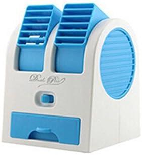 2016/nuevo doble capa USB Mini ventilador de aire acondicionado blade-less port/átil Mini-Air Conditioner perfecto para al aire libre oficina funciona con pilas o USB