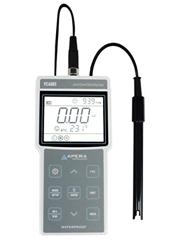 Apera Instruments AI423 PC400S Portable Multi-Parameter Meter Kit (pH/EC/TDS/Salinity/Resistivity/Temp.), 1.3