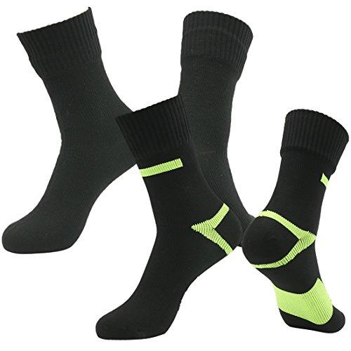 [SGS Certified] RANDY SUN Unisex Waterproof & Breathable Hiking/Trekking/Ski Socks, 2 Pairs-Black2, Small