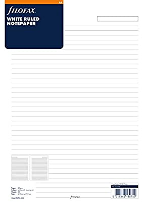 Filofax A4 Ruled Paper White 293008