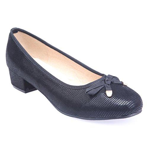 Sintético Mujer Zapatos Material Vestir Negro De Modeuse La Aqg7x