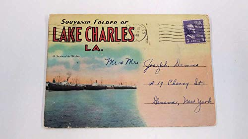 Lake Charles Louisiana Greetings Harbor View Postcard Folder JE229387