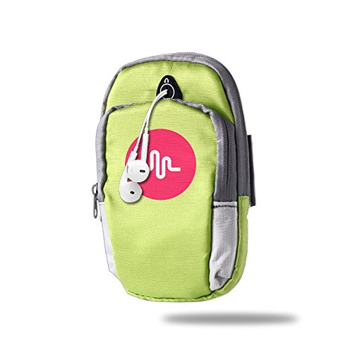 AIJFW Musical Ly Logo Outdoor Sports Armband, Multifunctional Pockets Arm Bag Arm Punch Case Holder For Running Trekking Hiking Cycling Mounting Strolling Armband