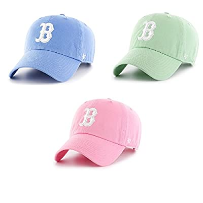 Boston Red Sox Strapback Hat 47 Brand Pastel Clean Up Slouch Fit