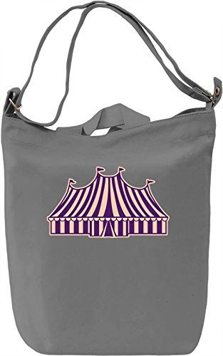 Circus Borsa Giornaliera Canvas Canvas Day Bag  100% Premium Cotton Canvas  DTG Printing 