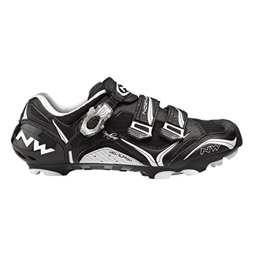 Northwave Striker Carbon 5 Womens Mountain Cycling Shoe Black White - 41
