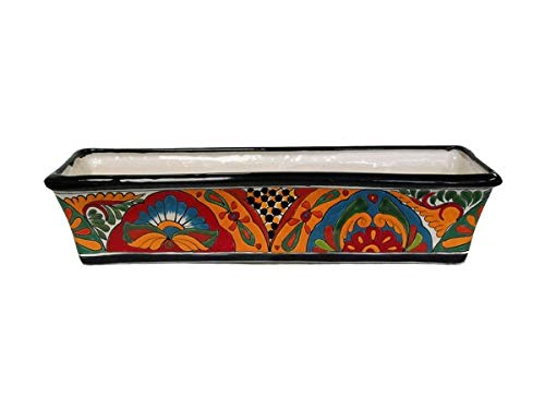 Ceramic Talavera Planter (TALAVERA WINDOW BOX LARGE)