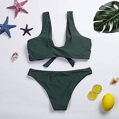 AFDK Traje de baño para mujer Conjunto de bikini de talle alto ...