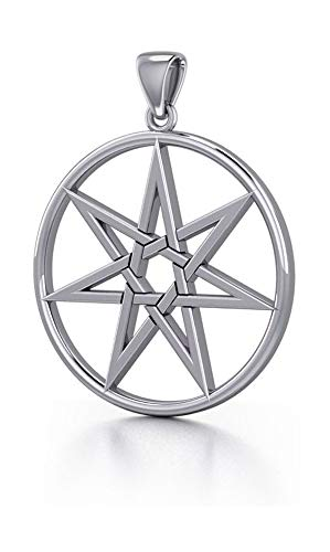 Faerie Star - Sterling Silver 7 Pointed Faerie Star Pendant