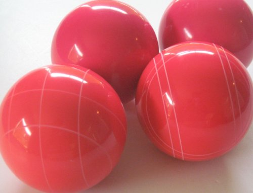 Premium Quality EPCO 4 Ball Set with light red bocce balls [Misc.] by Epco