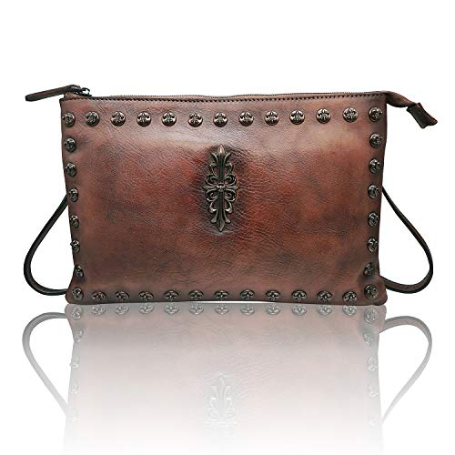 - Womens Crossbody Purse Wristlet Clutch Handbags Leather Shoulder Bag (L,coffee)