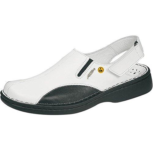 Abeba , Herren Sicherheitsschuhe mehrfarbig weiß / schwarz 40